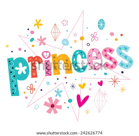 princess - stock vector
