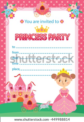 Birthday invitation stock images royalty free images vectors princess birthday party invitation template card stopboris Images
