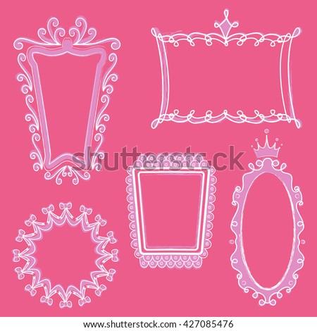 Princess Frames Stock Vector 427085476 - Shutterstock