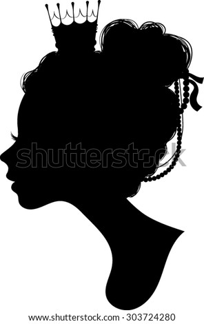 Princess Silhouette - Vector Illustration  - stock vector