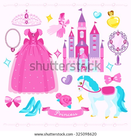 Princess Vector Design Illustration - stock vector