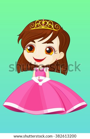 Princess with pink dress