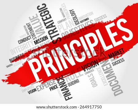 Principles word cloud, business concept - stock vector