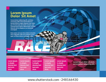 print ad or poster for motor racing event - stock vector