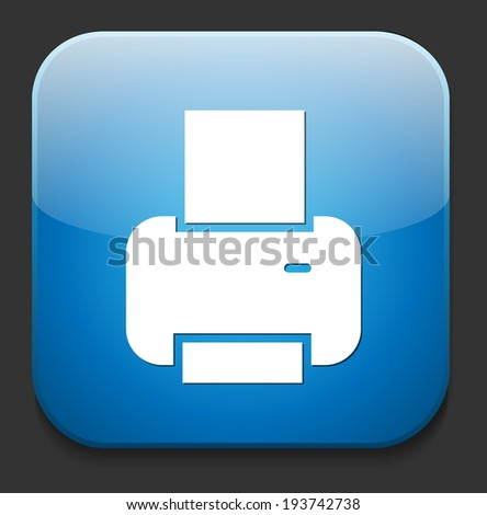 print icon - stock vector