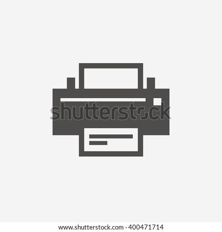 Print icon sign. Print icon flat design. Print icon for app. Print icon art. Print icon for logo. Print icon vector. Print icon illustration. Flat icon on white background. Vector - stock vector