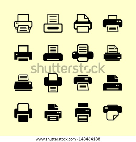 Print icons for website - stock vector