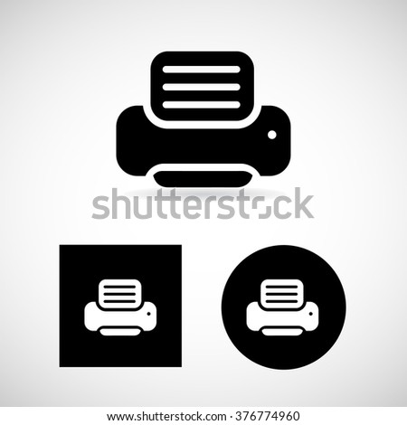 Print icons for website Vector EPS10, Great for any use. - stock vector