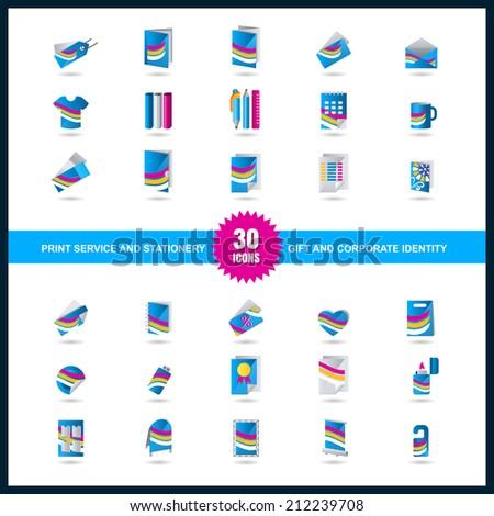 Printing Service Print Service Icon Set