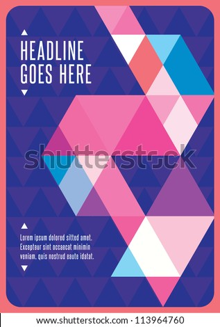 Print/ Vector Poster Design Template/ Layout Design/ Background/ Graphics/ Abstract web design - stock vector