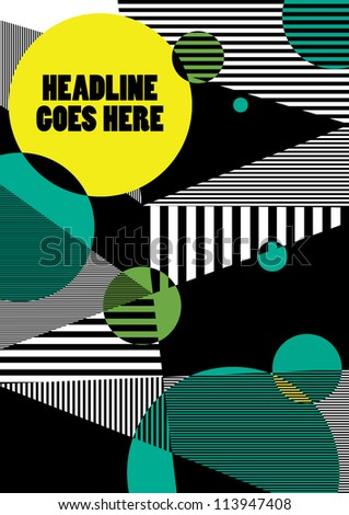 Print/ Vector Poster Design Template/ Layout Design/ Background/ Graphics/ wallpaper/ abstract web - stock vector