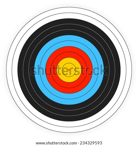 Printable archery target background.