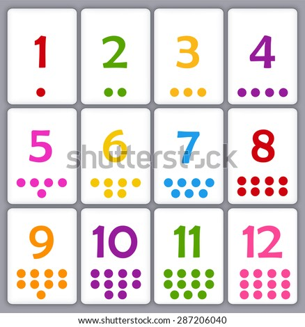 Bright image with regard to free printable number flashcards