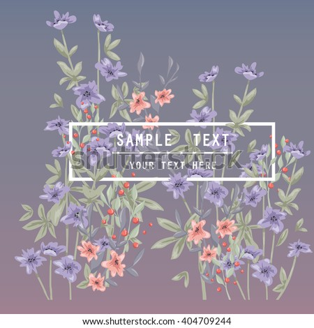 Printable spring wall art with floral pattern and typography. Vector template with flowers for invitation, posters, flyers, journal cards, scrapbook.