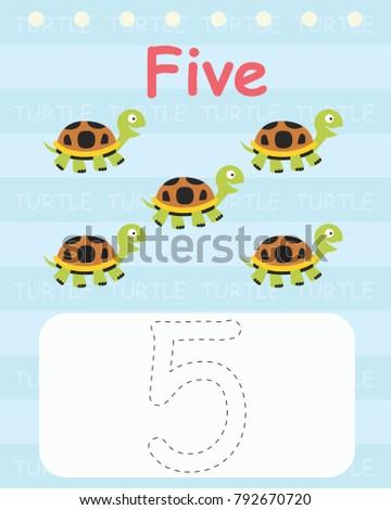 Printable Worksheet Kindergarten Preschool We Train Stock Vector ...