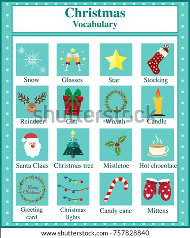 Printable Worksheet Pupils About Christmas Christmas Stock Vector HD ...