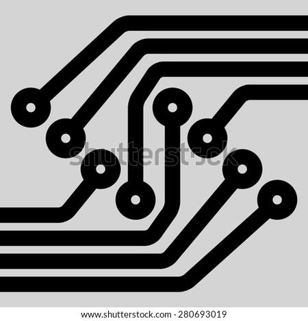 Printed Circuit Board Design Vector Illustration Stock Vector ...
