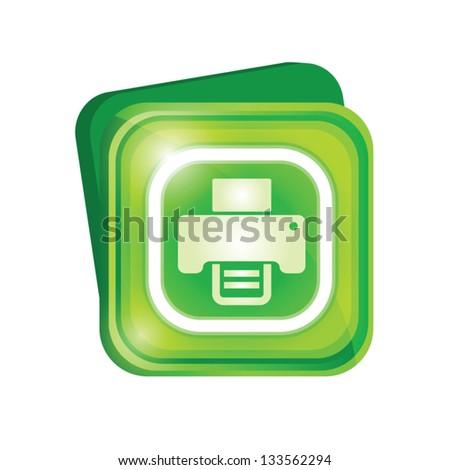 Printer sign - stock vector