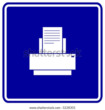 printer sign - stock vector