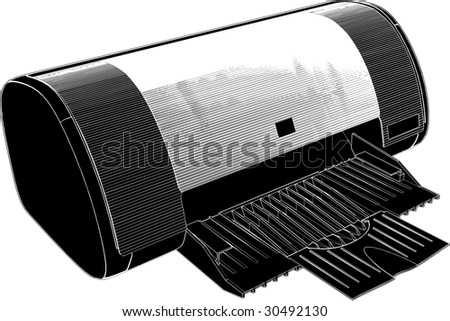Printer Vector 01 - stock vector