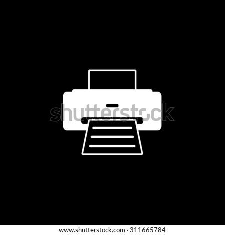 Printer - vector icon - stock vector