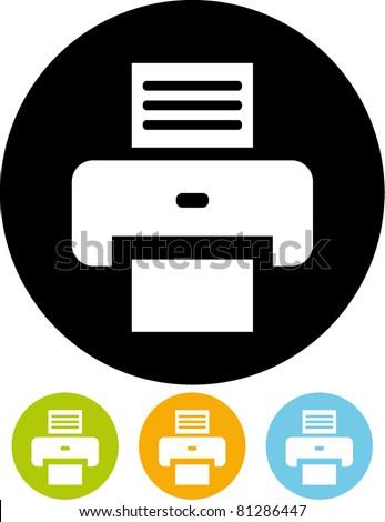 Printer – Vector icon - stock vector