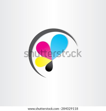 printing icon print-house ink symbol design - stock vector