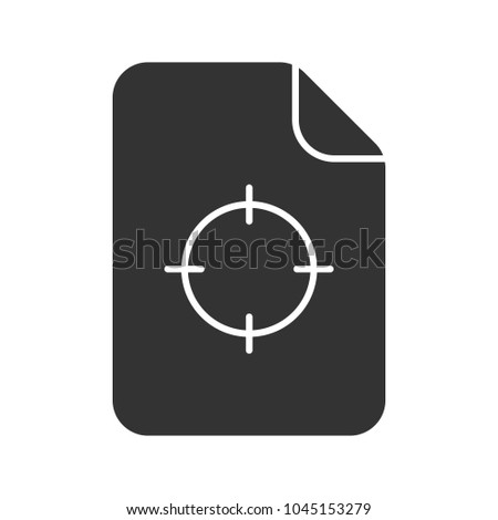 Printing Registration Mark Glyph Icon Silhouette Stock Photo Photo