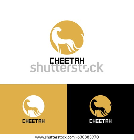 PrintStylized cheetah. Logo cheetah. Vector illustration EPS10