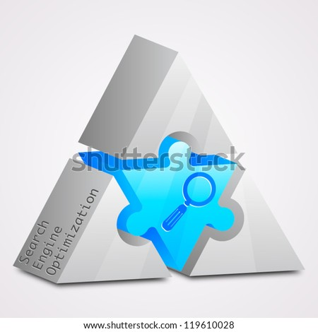 Prism puzzle: Search Engine Optimization - stock vector