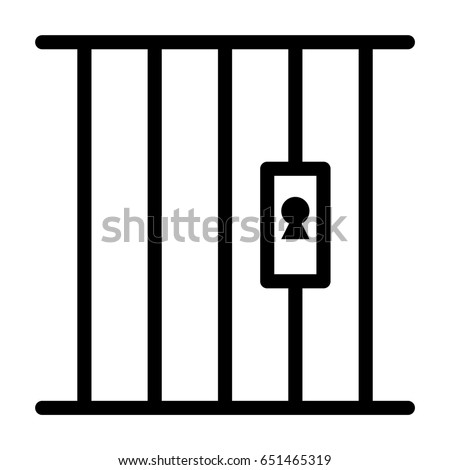 prison stock vector 2018 651465319 shutterstock rh shutterstock com jail clipart gif jail clip art free