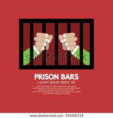 Prison Bars Graphic Vector Illustration - stock vector