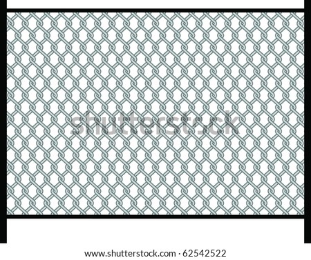 prisoner, fence - stock vector