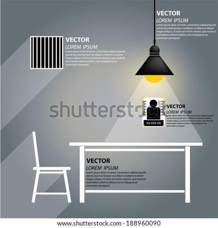prisoner room vector - stock vector