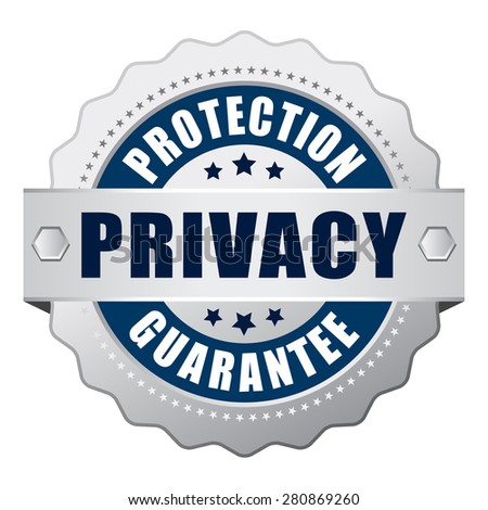 Privacy protection guarantee icon - stock vector