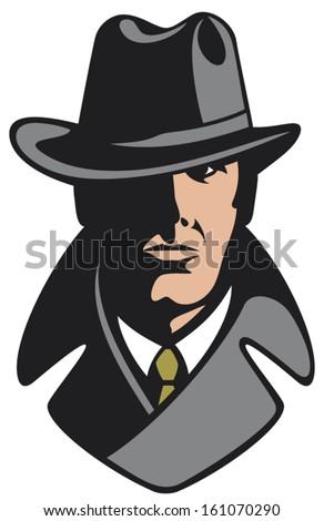 private detective  - stock vector