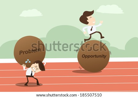 Problem opportunity ,Business Concept - stock vector