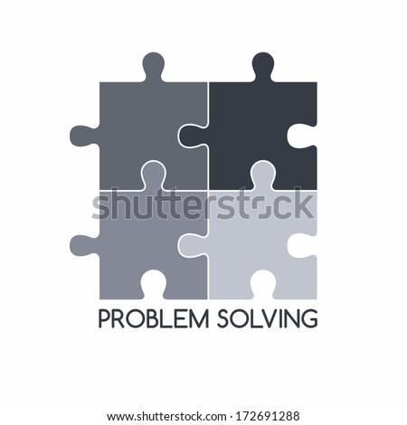 problem solving - stock vector