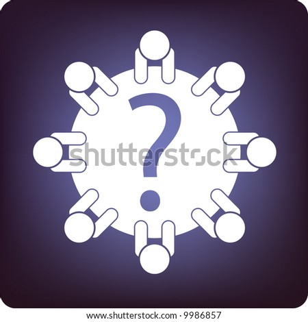 problem solving - stock vector