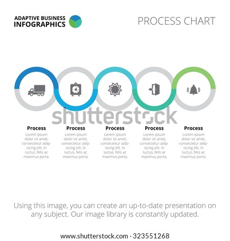 Process chart. Business data.Abstract element of chart, graph, diagram with 5 steps, options, parts, processes. Vector business template for presentation and training. Creative concept for infographic
