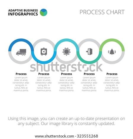 Process chart. Business process chart template. Process chart infographic. Process chart infographic art. Process chart illustration. Process chart infographic web. Process chart infographic image. - stock vector