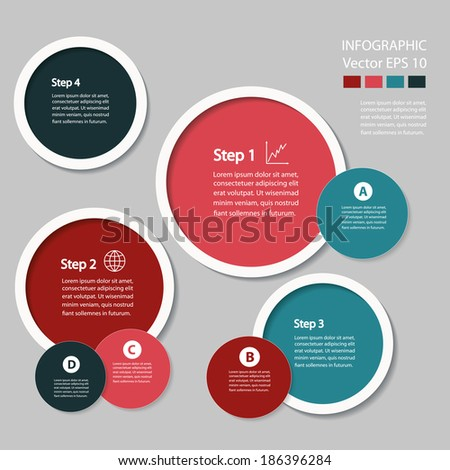 Process chart module. Vector infographic design.  - stock vector