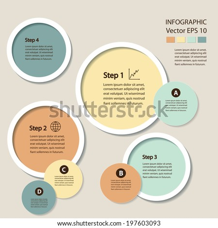 Process chart module. Vector infographic design.