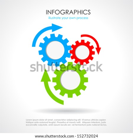 Process chat design - stock vector