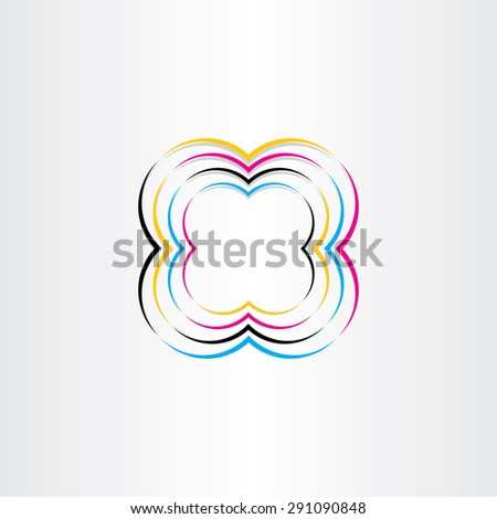 process colors cmyk abstract background design - stock vector