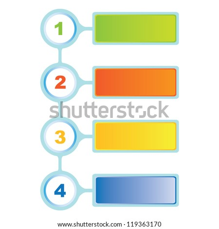 process diagram, presentation diagram - stock vector