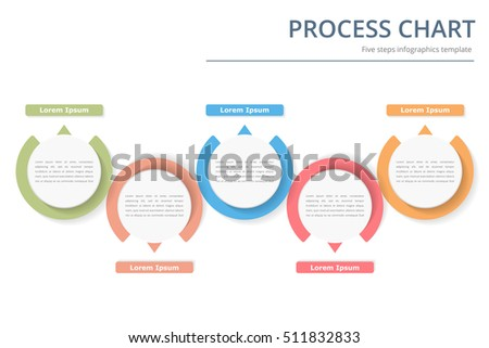 Process Diagram Template Circles Flowchart Workflow Stock Vector ...