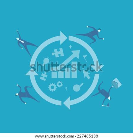 Process improvement  - stock vector