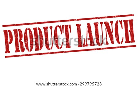 Product launch grunge rubber stamp on white background, vector illustration