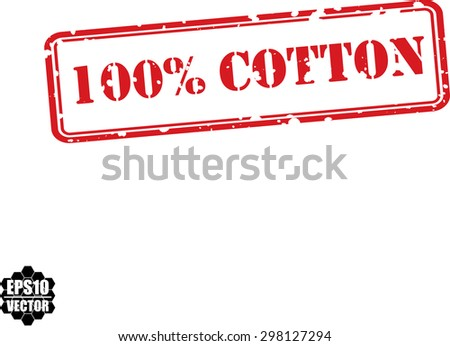 Product made from 100 percent cotton, red grunge rubber stamp,vector illustration - stock vector